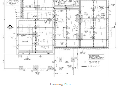 Framing Plan JA Designs Drafting And Interior Design South Lake Tahoe