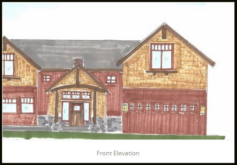Front Elevation JA Designs Drafting and Interior Design South Lake Tahoe