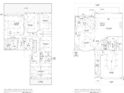Electrical Plan JA Designs Drafting and Interior Design South Lake Tahoe