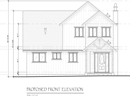 Proposed Front Elevation JA Designs Drafting and Interior Design South Lake Tahoe