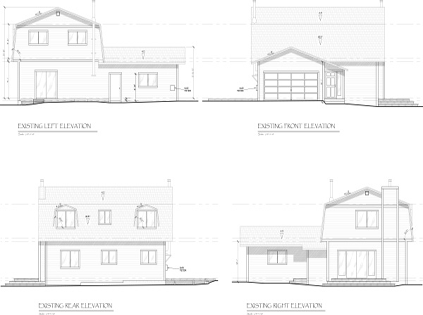 Existing Elevations JA Designs Drafting and Interior Design South Lake Tahoe