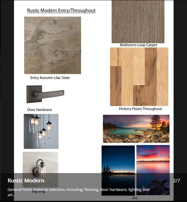 Rustic Modern JA Designs Drafting and Interior Design South Lake Tahoe