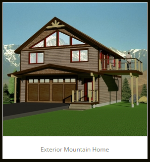 Exterior Mountain Home JA Designs Drafting and Interior Design South Lake Tahoe