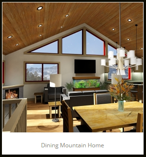 Dining Mountain Home JA Designs Drafting and Interior Design South Lake Tahoe
