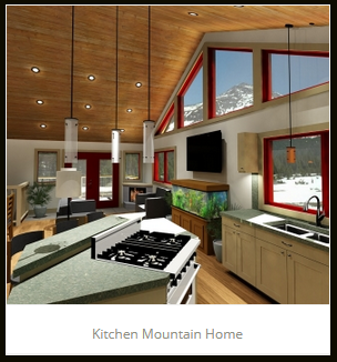 Kitchen Mountain Home JA Designs Drafting and Interior Design South Lake Tahoe