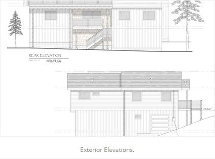 Exterior Elevations JA Designs Drafting and Interior Design South Lake Tahoe