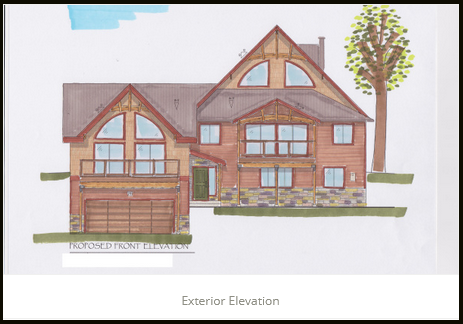 Exterior Elevation JA Designs Drafting and Interior Design South Lake Tahoe