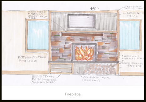 Fireplace JA Designs Drafting and Interior Design South Lake Tahoe