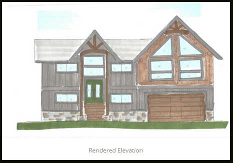 Rendered Elevation JA Designs Drafting and Interior Design South Lake Tahoe